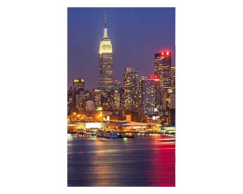 Vliesové fototapety na zeď Manhattan v noci   MS-2-0003   150x250 cm - Fototapety vliesové