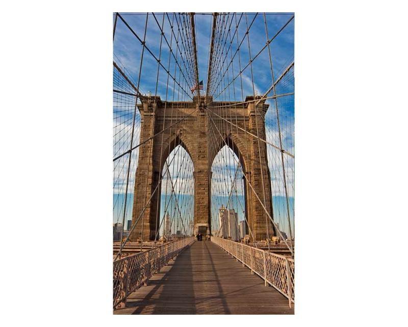 Vliesové fototapety na zeď Brooklynský most | MS-2-0005 | 150x250 cm - Fototapety vliesové