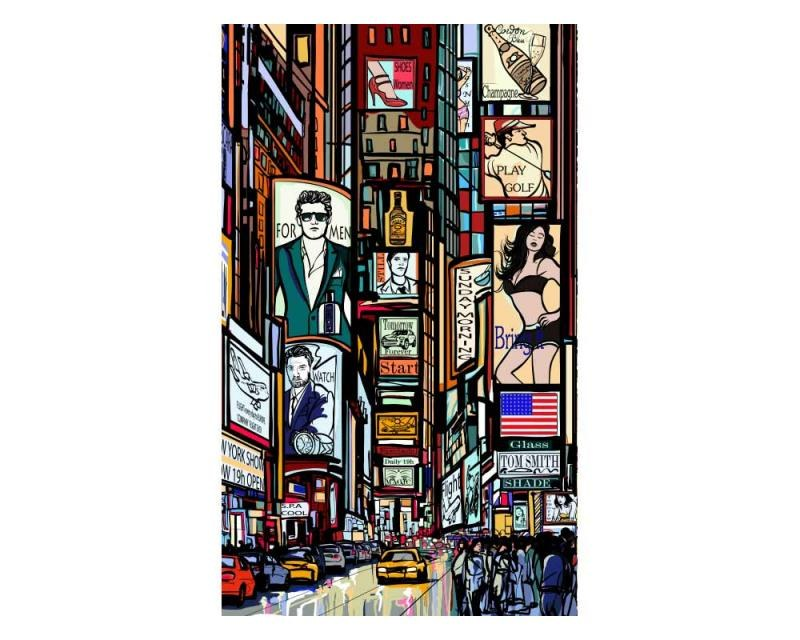 Vliesové fototapety na zeď Náměstí Times Square | MS-2-0013 | 150x250 cm - Fototapety vliesové