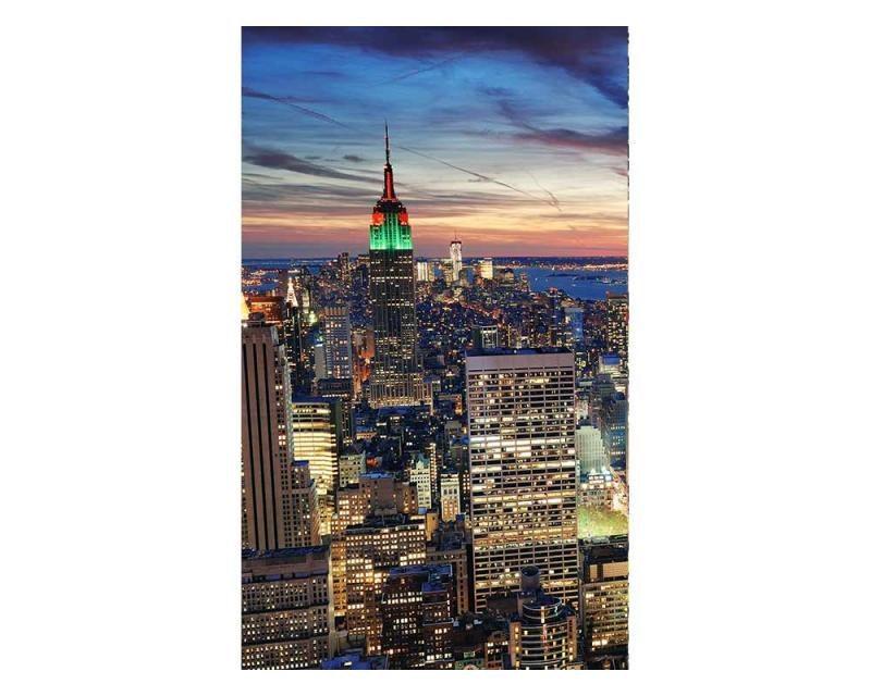 Vliesové fototapety na zeď Mrakodrapy v New Yorku | MS-2-0014 | 150x250 cm - Fototapety vliesové
