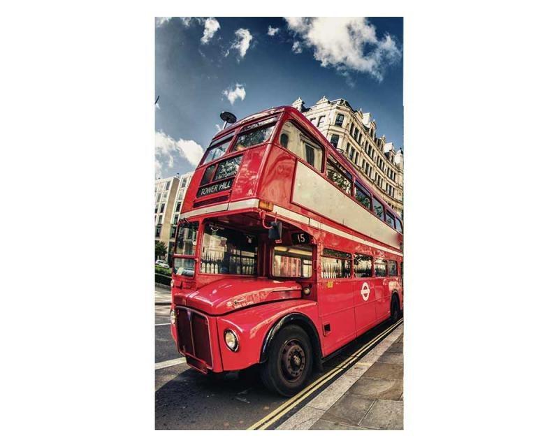 Vliesové fototapety na zeď Londýnský autobus | MS-2-0017 | 150x250 cm - Fototapety vliesové