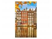 Vliesové fototapety na zeď Domy v Amsterdamu | MS-2-0024 | 150x250 cm Fototapety vliesové