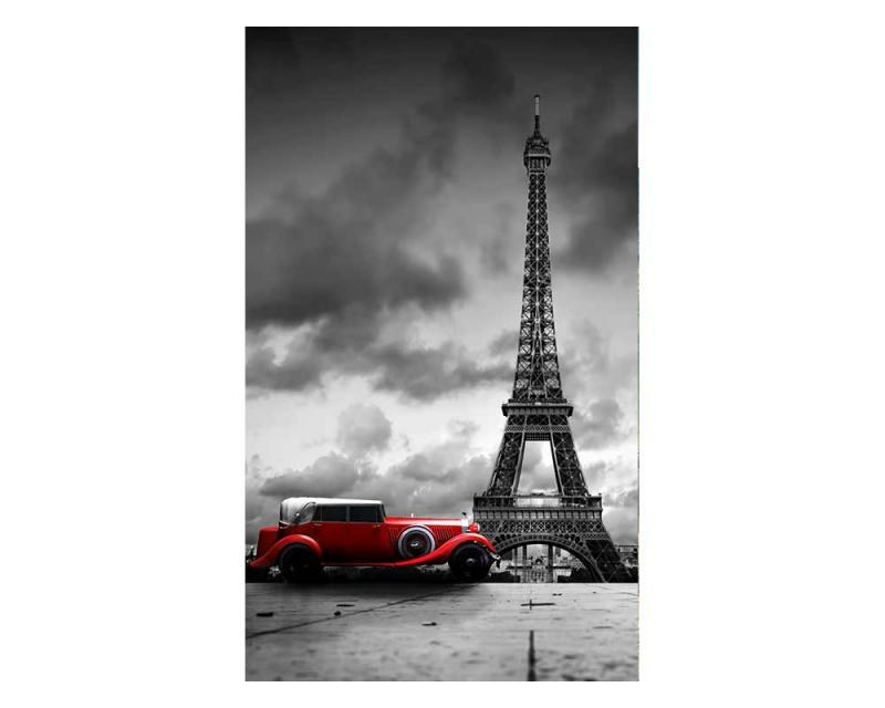 Vliesové fototapety na zeď Retro auto v Paříží | MS-2-0027 | 150x250 cm - Fototapety vliesové