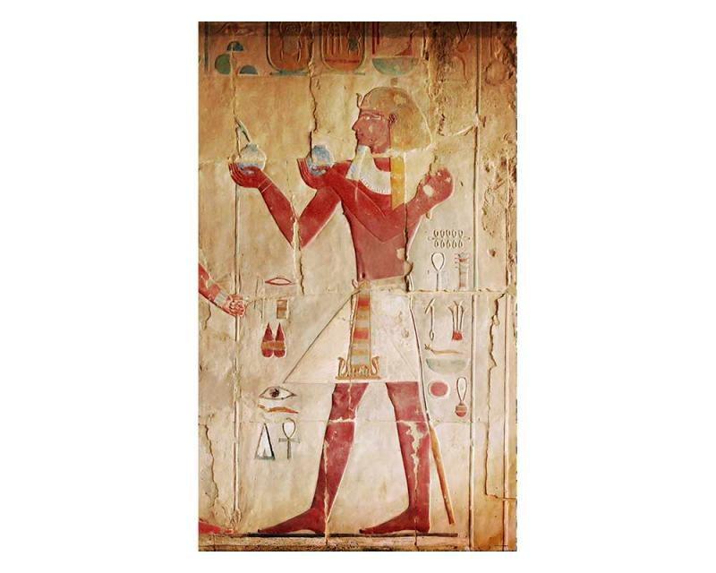 Vliesové fototapety na zeď Egyptská malba | MS-2-0052 | 150x250 cm - Fototapety vliesové