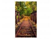Vliesové fototapety na zeď Železnice v lese | MS-2-0055 | 150x250 cm Fototapety vliesové