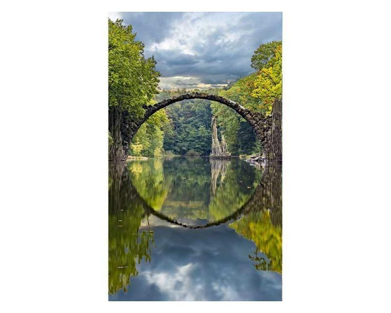 Vliesové fototapety na zeď Krajina s obloukovým mostem | MS-2-0060 | 150x250 cm - Fototapety vliesové