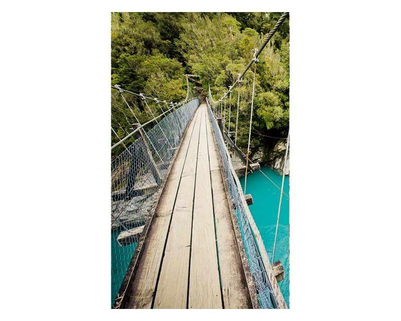 Vliesové fototapety na zeď Dřevěný most | MS-2-0082 | 150x250 cm - Fototapety vliesové