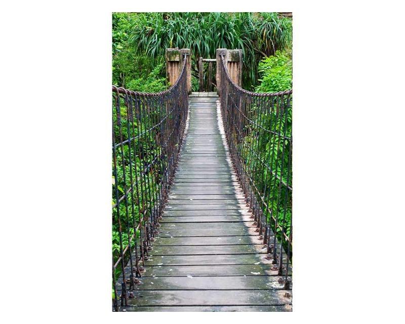 Vliesové fototapety na zeď Most v lese | MS-2-0084 | 150x250 cm - Fototapety vliesové