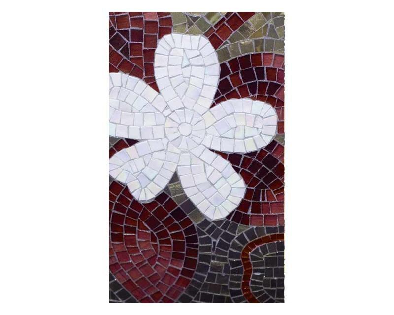 Vliesové fototapety na zeď Červená mozaika   MS-2-0114   150x250 cm - Fototapety vliesové