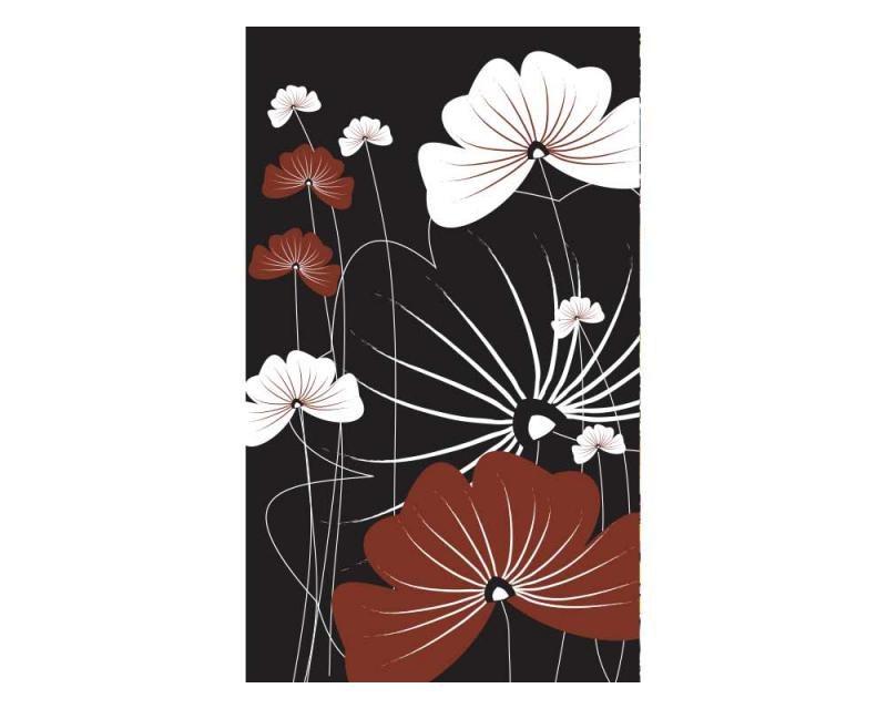 Vliesové fototapety na zeď Květiny na černém pozadí | MS-2-0156 | 150x250 cm - Fototapety vliesové
