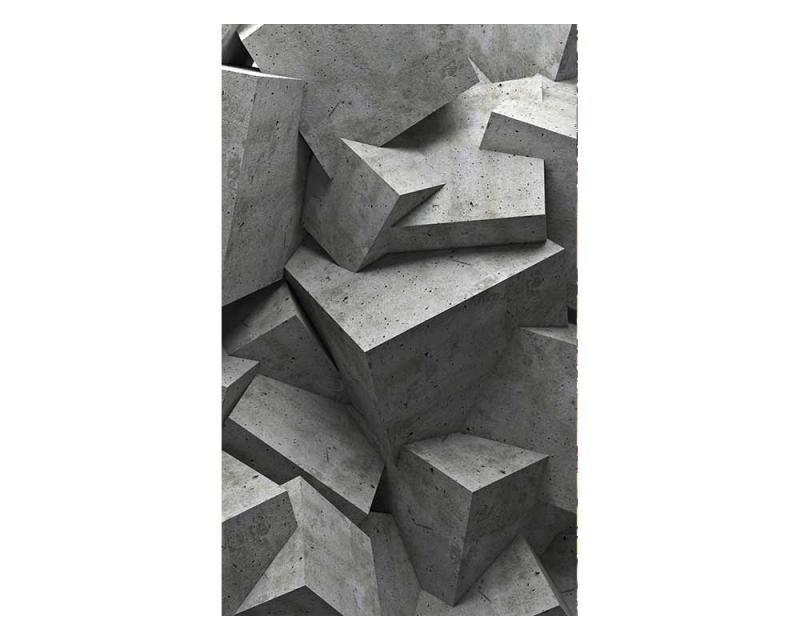 Vliesové fototapety na zeď 3D betonové kvádry | MS-2-0176 | 150x250 cm - Fototapety vliesové