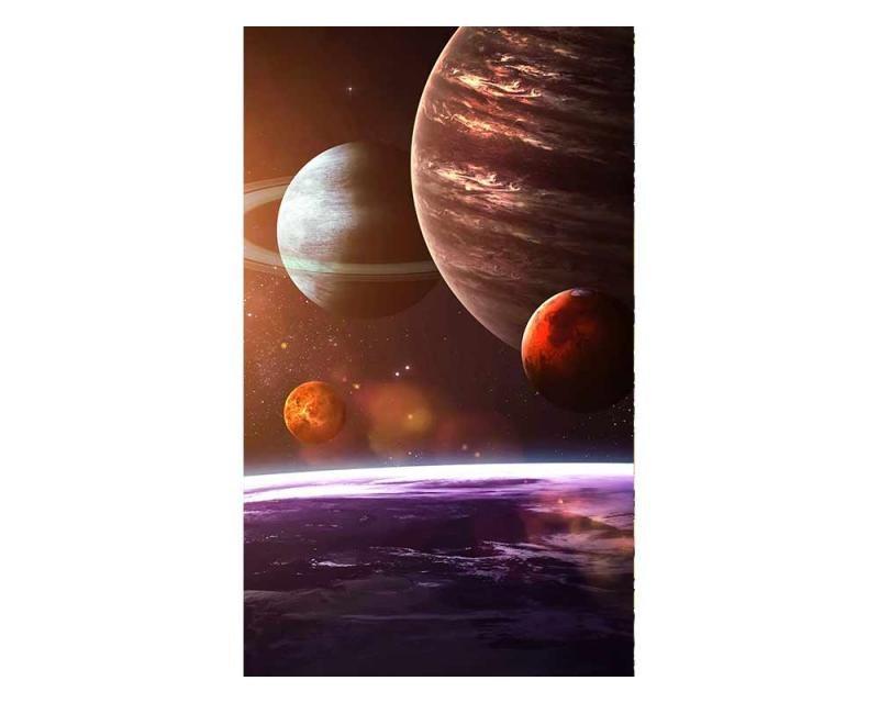 Vliesové fototapety na zeď Sluneční soustava | MS-2-0188 | 150x250 cm - Fototapety vliesové