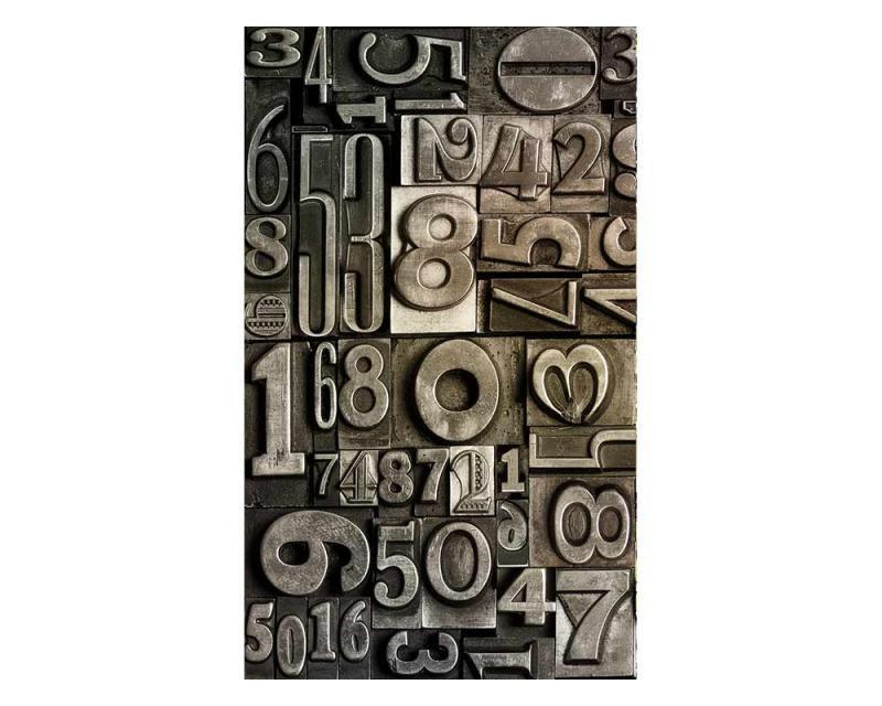 Vliesové fototapety na zeď Číslice | MS-2-0273 | 150x250 cm - Fototapety vliesové