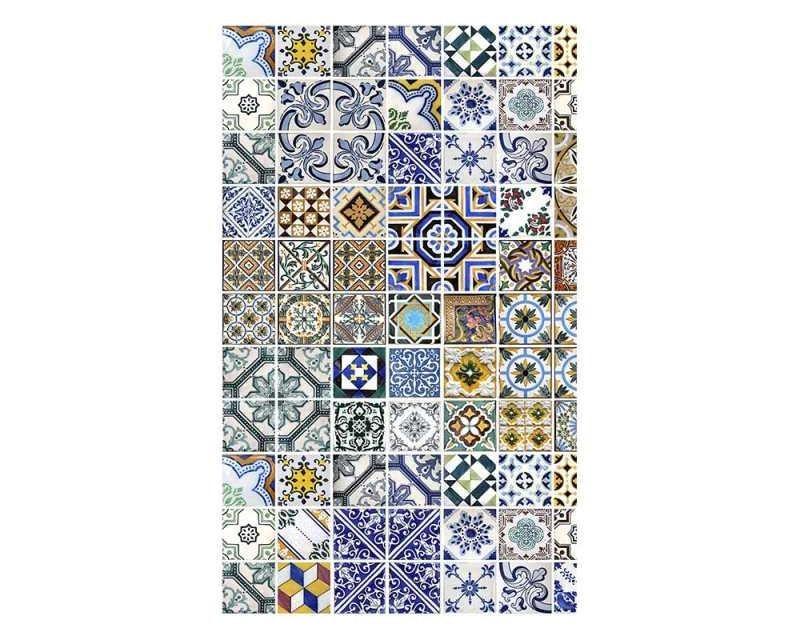 Vliesové fototapety na zeď Portugalské dlaždice | MS-2-0275 | 150x250 cm - Fototapety vliesové