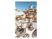 Vliesové fototapety na zeď Stříbrné kostky | MS-2-0284 | 150x250 cm Fototapety vliesové
