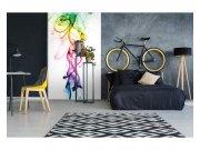 Vliesové fototapety na zeď Teplý kouř barev | MS-2-0289 | 150x250 cm Fototapety vliesové