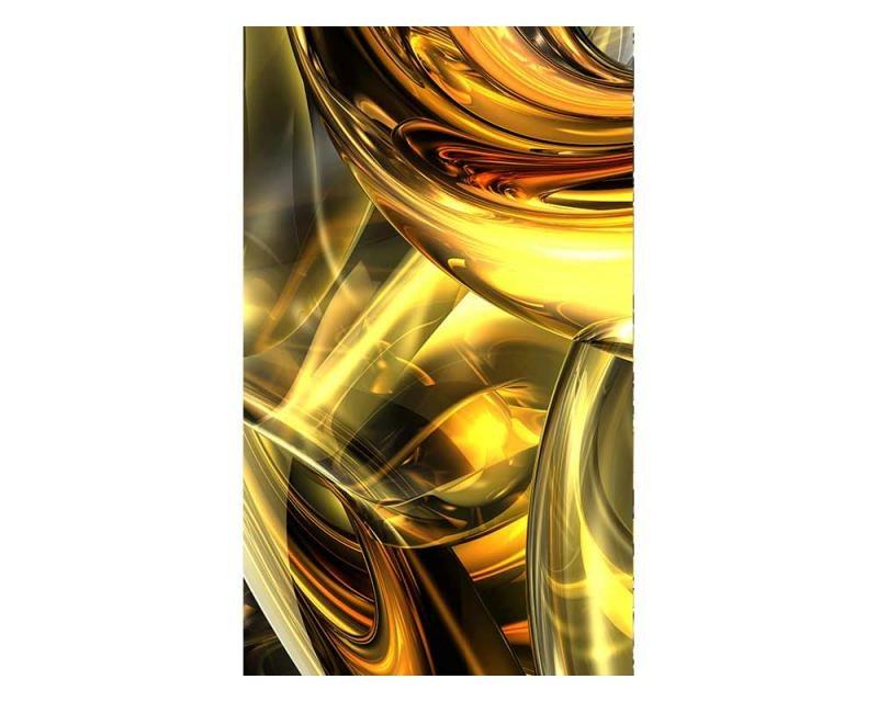 Vliesové fototapety na zeď Zlatý abstrakt | MS-2-0291 | 150x250 cm - Fototapety vliesové