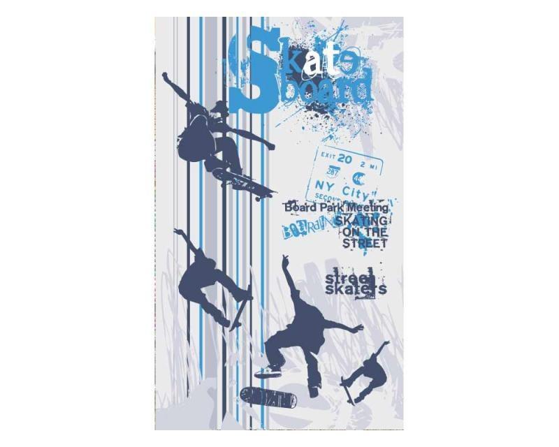 Vliesové fototapety na zeď Skate | MS-2-0313 | 150x250 cm - Fototapety vliesové