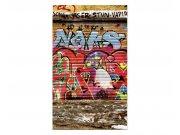 Vliesové fototapety na zeď Ulice s graffiti | MS-2-0321 | 150x250 cm Fototapety vliesové