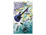 Vliesové fototapety na zeď Modrá kytara | MS-2-0323 | 150x250 cm Fototapety vliesové