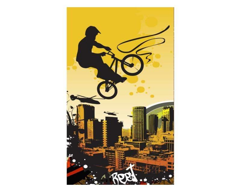 Vliesové fototapety na zeď Cyklisti | MS-2-0326 | 150x250 cm - Fototapety vliesové