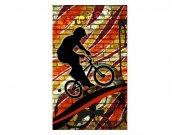 Vliesové fototapety na zeď Červené kolo | MS-2-0327 | 150x250 cm Fototapety vliesové