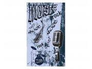 Vliesové fototapety na zeď Modrá hudba | MS-2-0329 | 150x250 cm Fototapety vliesové