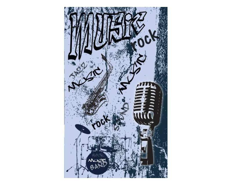 Vliesové fototapety na zeď Modrá hudba | MS-2-0329 | 150x250 cm - Fototapety vliesové