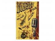 Vliesové fototapety na zeď Žlutá hudba | MS-2-0330 | 150x250 cm Fototapety vliesové