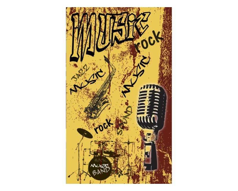 Vliesové fototapety na zeď Žlutá hudba | MS-2-0330 | 150x250 cm - Fototapety vliesové