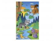 Vliesové fototapety na zeď Zvířátka v lese | MS-2-0336 | 150x250 cm Fototapety vliesové