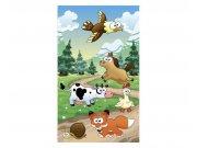 Vliesové fototapety na zeď Zvířátka u lesa | MS-2-0340 | 150x250 cm Fototapety vliesové