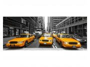 Panoramatické vliesové fototapety na zeď Taxi ve městě | MP-2-0008 | 375x150 cm Fototapety vliesové