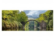Panoramatické vliesové fototapety na zeď Krajina s obloukovým mostem | MP-2-0060 | 375x150 cm Fototapety vliesové