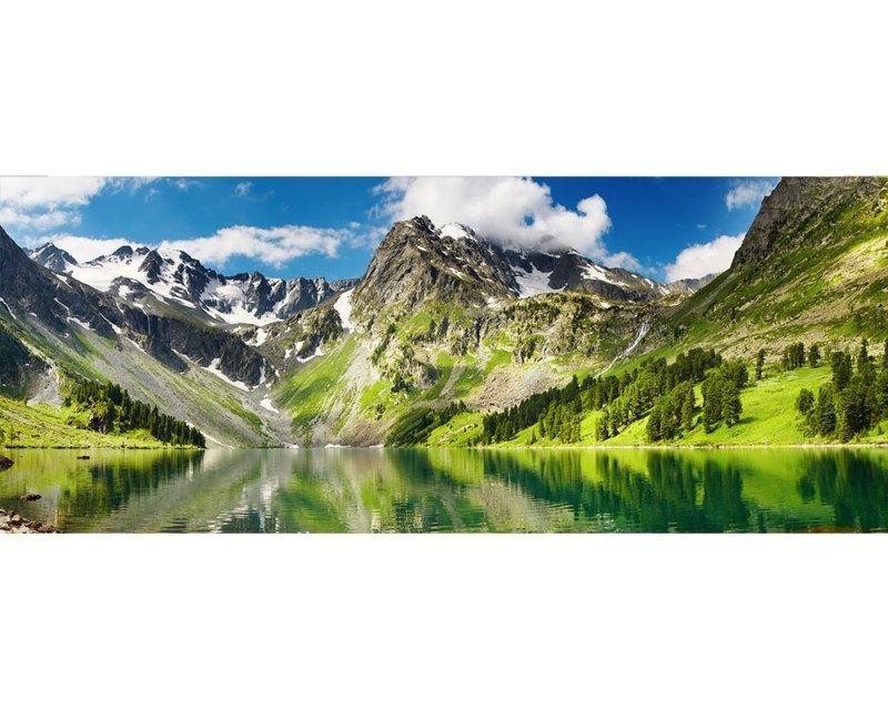 Panoramatické vliesové fototapety na zeď Jezero | MP-2-0062 | 375x150 cm - Fototapety vliesové