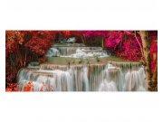 Panoramatické vliesové fototapety na zeď Vodopád v deštném pralese | MP-2-0072 | 375x150 cm Fototapety vliesové