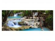 Panoramatické vliesové fototapety na zeď Vodopád | MP-2-0086 | 375x150 cm Fototapety vliesové