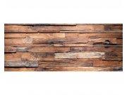 Panoramatické vliesové fototapety na zeď Dřevěná zeď | MP-2-0158 | 375x150 cm Fototapety vliesové