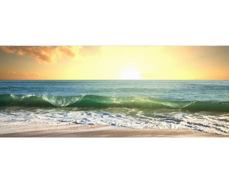 Panoramatické vliesové fototapety na zeď Moře při západu slunce | MP-2-0209 | 375x150 cm - Fototapety vliesové