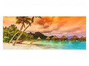 Panoramatické vliesové fototapety na zeď Polynésie | MP-2-0211 | 375x150 cm Fototapety vliesové