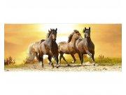 Panoramatické vliesové fototapety na zeď Koně při západu slunce | MP-2-0227 | 375x150 cm Fototapety vliesové