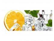 Panoramatické vliesové fototapety na zeď Citrón a led | MP-2-0238 | 375x150 cm Fototapety vliesové
