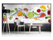 Panoramatické vliesové fototapety na zeď Ovoce ve vodě | MP-2-0239 | 375x150 cm Fototapety vliesové