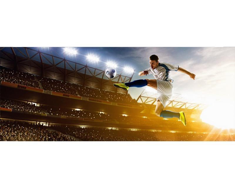 Panoramatické vliesové fototapety na zeď Fotbalový hráč | MP-2-0306 | 375x150 cm - Fototapety vliesové