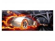 Panoramatické vliesové fototapety na zeď Auto v plamenech | MP-2-0314 | 375x150 cm Fototapety vliesové