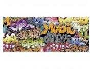 Panoramatické vliesové fototapety na zeď Graffiti | MP-2-0322 | 375x150 cm Fototapety vliesové