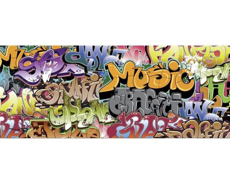 Panoramatické vliesové fototapety na zeď Graffiti | MP-2-0322 | 375x150 cm - Fototapety vliesové