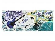 Panoramatické vliesové fototapety na zeď Modrá kytara | MP-2-0323 | 375x150 cm Fototapety vliesové
