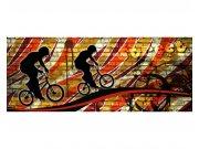 Panoramatické vliesové fototapety na zeď Červené kolo | MP-2-0327 | 375x150 cm Fototapety vliesové