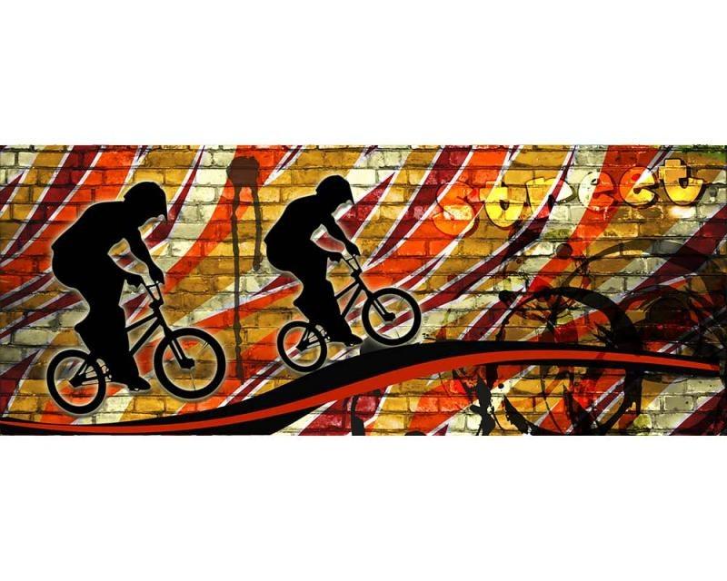 Panoramatické vliesové fototapety na zeď Červené kolo | MP-2-0327 | 375x150 cm - Fototapety vliesové